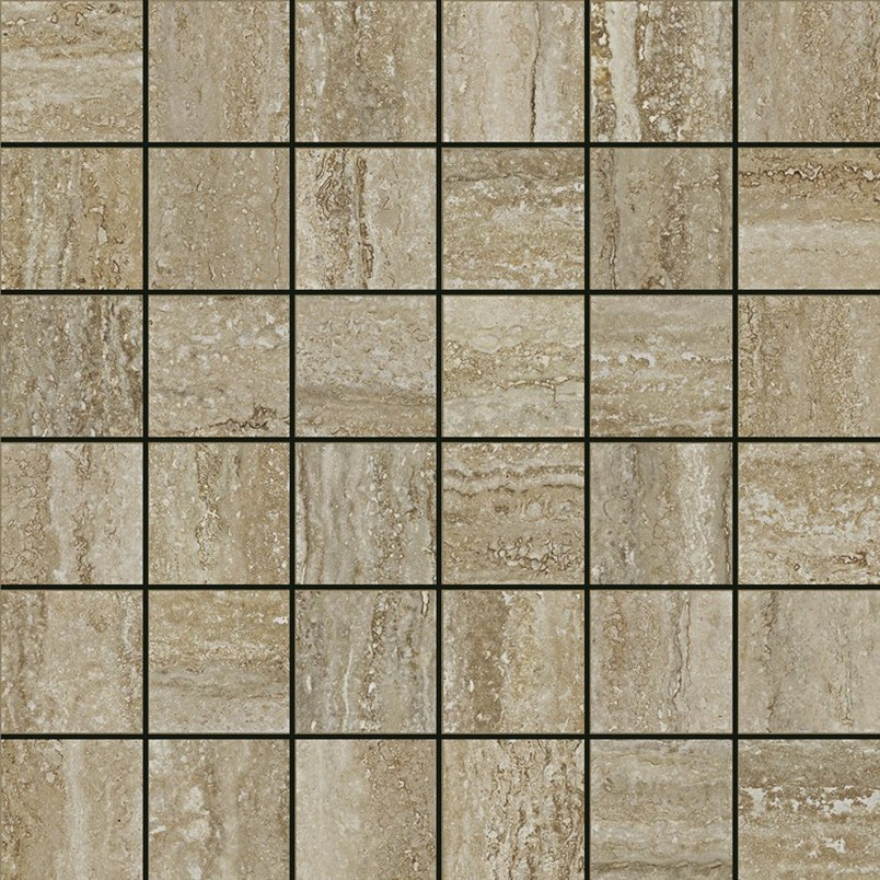 Italon Travertino Floor Mosaico Silver